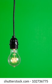 Green Light isolated hanging in the studio