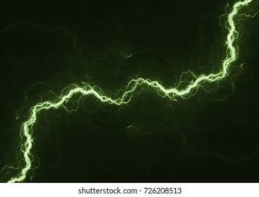 Green lightning, plasma electrical background
