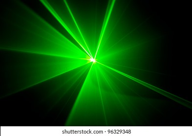 green lights beam