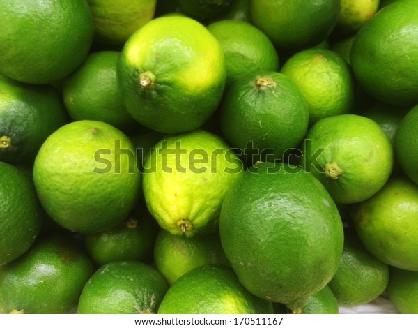 Green lime in market ready for sell