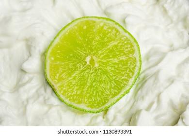Green Lime on white Quark