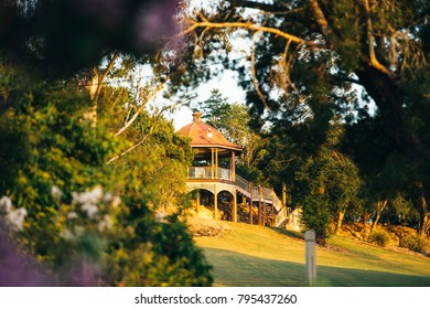 Green lush beautiful gardens in Ipswich inner city, Queensland.