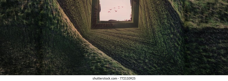 Green Magical Landscape - Surreal Inception Concept Art