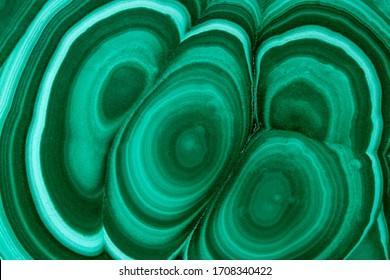 Green malachite stone texture. Malachite semi preciouse  stone  . Macro.