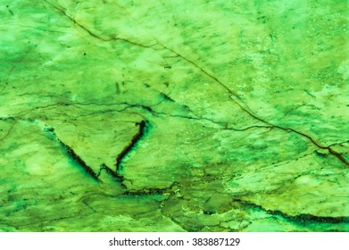 Green marble texture background.