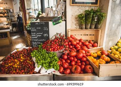 Green market veggies in Paris, France