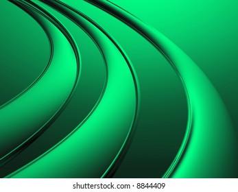 Green Metal Rings - 3D image render