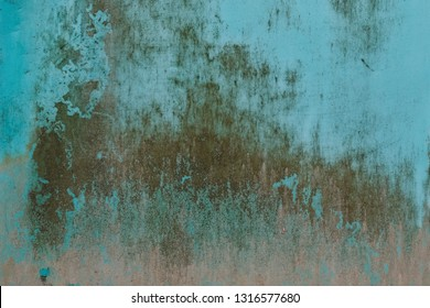Green metal texture with scratches and cracks