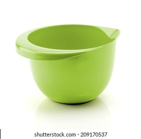 Green Mixing Bowl isolated on white Background