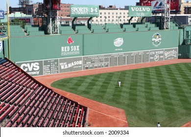 The Green Monster - left field wall of Fenway Park