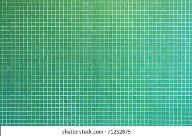 green mosaic tile texture with white filling