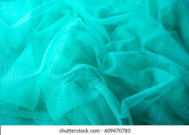 Green Mosquito net fabric abstract texture and background