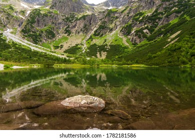 Green mountain lake, Zelene Pleso, High Tatras, Slovakia