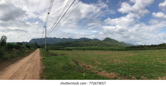 Green mountain panoramic landscape at Amphoe Sai Yok, Kanchanaburi  Thailand