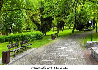 Green natural city park