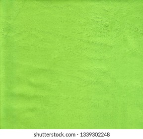 Green natural leather skin close-up background, gray thin leather texture with pattern