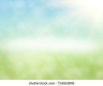 green nature background at warm summer day