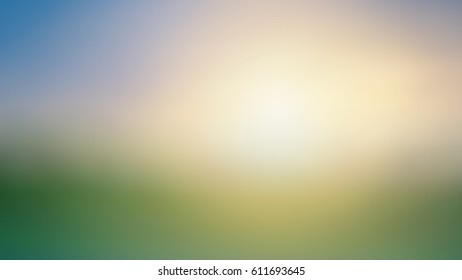 green nature with sunset blured background for summer design