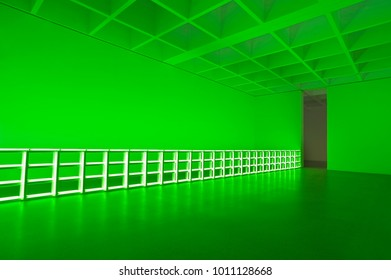 The green neon space