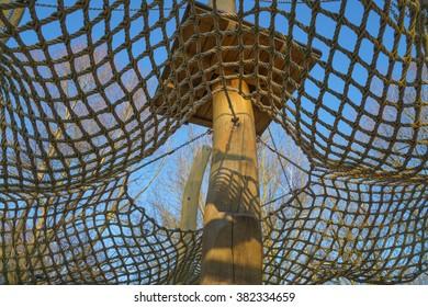 Green net of children's play