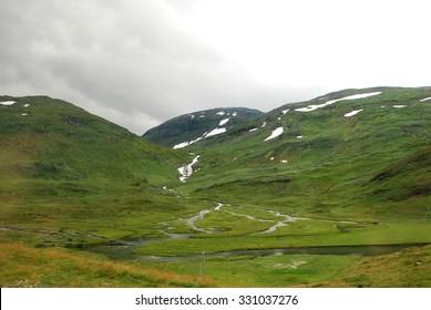 Green Norwegian hills, Norway, Scandinavia