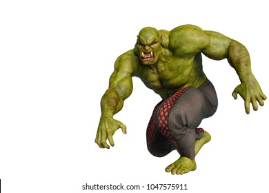 the green ogre 3d illustration