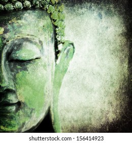 green old grunge buddha
