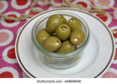 green olives filled with almonds