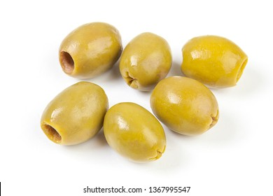 green olives on a white background. option photos for packaging