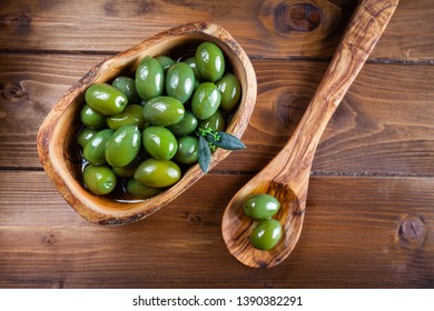 Green olives from Puglia, Italy