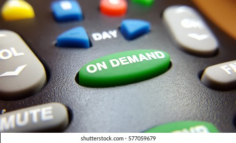 Green on demand button on a remote control