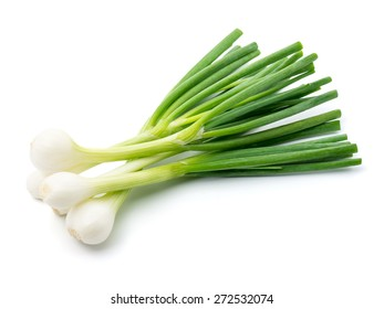 Green onion isolated on the white background