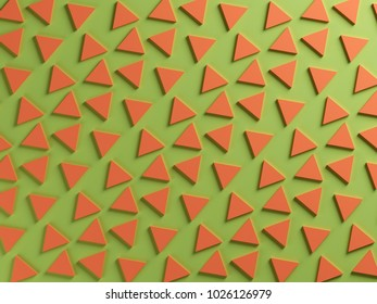 Green and orange triangular two color textured background