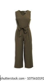 Green Overall Jumpsuit Isolated
