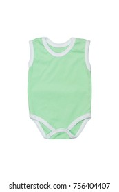 Green overall with white edge for kids on a white background