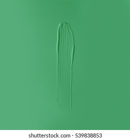 Green paint texture. Minimal flat lay concept.