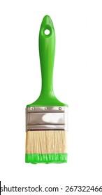 grüner Pinsel einzeln auf Weiß