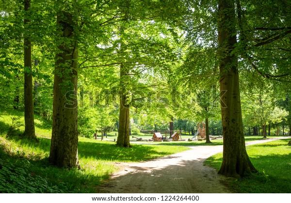 Green Park with children's Playground