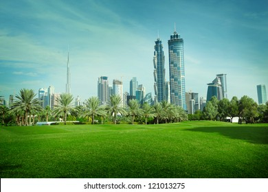Green park in Dubai, UAE