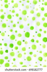 Green Pattern Watercolor