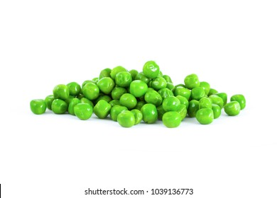 Green pea isolated on white