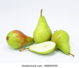 Green Pear fruit tasty sweet ripe nutritious on white background