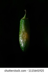 Green Pepper on Black