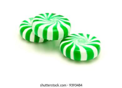 Green peppermints.