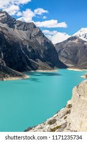 "A green peruvian lagoon named ""Lake Paròn""."