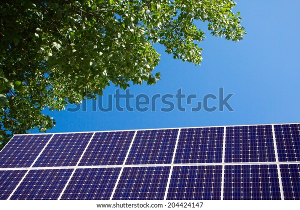 Green Photography: Solar Panel and blue sky