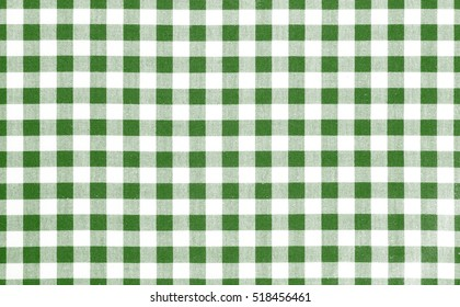 Green picnic cloth pattern wallpaper background.Kitchen menu backdrop.Retro fabric surface transparent.