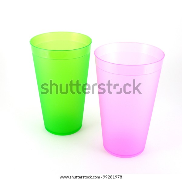 green-pink-cups-over-white-600w-99281978