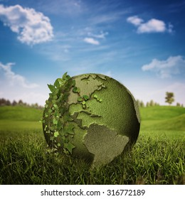 Green Planet, abstract environmental backgrounds