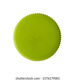 Green plastic cap with white background